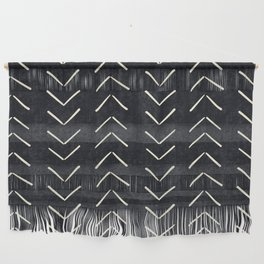 Mudcloth Big Arrows in Black and White Wall Hanging