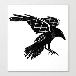 Raven Vector 2 Canvas Print