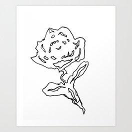 'Big rose' Art Print