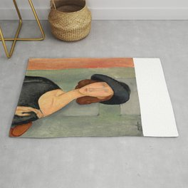 "Amedeo Modigliani ""Jeanne Hébuterne (Au chapeau)"" Rug"