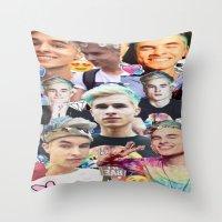 kiki Throw Pillows featuring Pastel Kiki by awkwardxadolescent