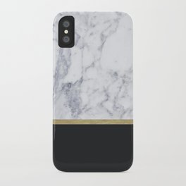 MARBLE GOLD BLACK iPhone Case
