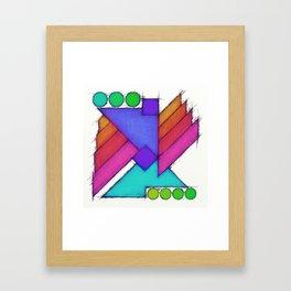Mechanical wings Framed Art Print