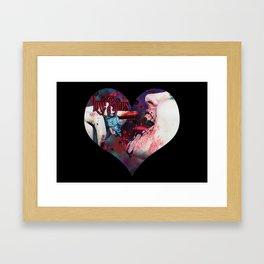 Love Bites Framed Art Print