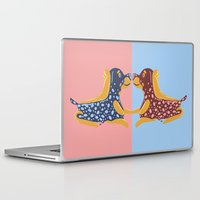 rottweiler Laptop & iPad Skins featuring Rottweiler Raspberry Pie  by Lizzie Young