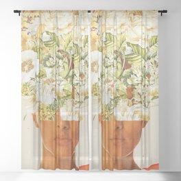 SuperFlowerHead Sheer Curtain