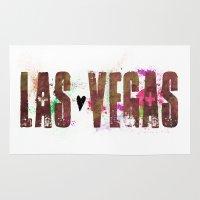 las vegas Area & Throw Rugs featuring Las Vegas by Tonya Doughty