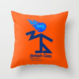 006 BRITISH GAS Throw Pillow