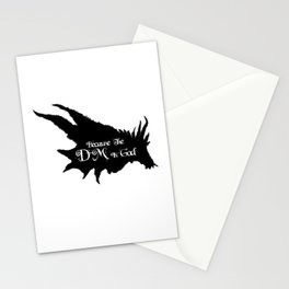 Because the DM is God Stationery Cards