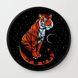 Tribal Tiger Long tail Wall Clock