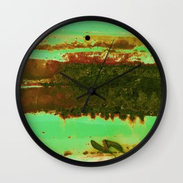 Rusted Middle Camo Colors Wall Clock