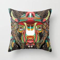 Bison (Feat. Bryan Gallardo) Throw Pillow