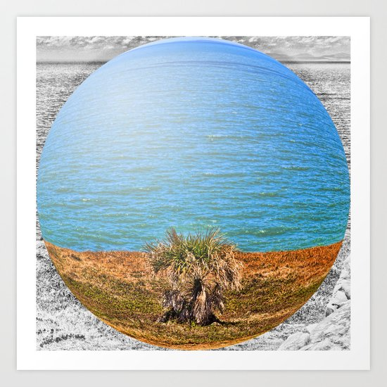 Bubble Ocean View Art Print