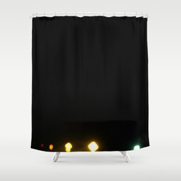 Signs of light against the dark of night Shower Curtain