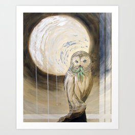 Owlthulhu Art Print