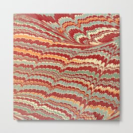 Vintage Marbled Design Metal Print