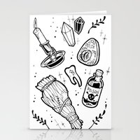 witchcraft Stationery Cards featuring WITCHCRAFT by Fokshe