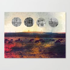 cows and balconies  Canvas Print