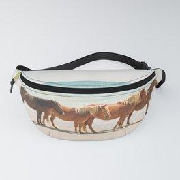 Summer Beach Horses Fanny Pack