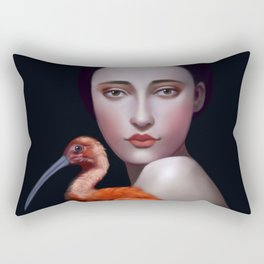 Miss Orange Stork Rectangular Pillow