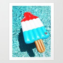 Bomb Pop Float all up in my Pool Art Print