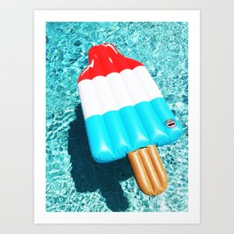 Bomb Pop Float all up in my Pool Art Print
