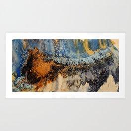 Copper Blue Serenade Art Print