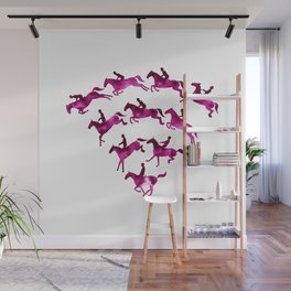 Connected to Showjumping (Magenta) Wall Mural