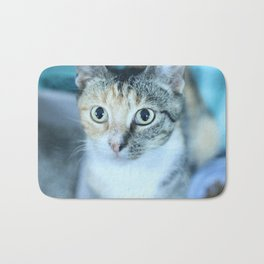 Revina the Cat with the Precious Face Bath Mat