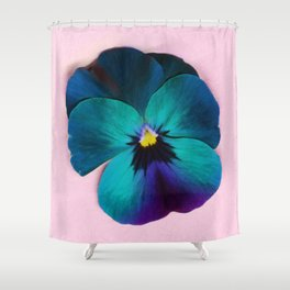 Viola tricolor Shower Curtain