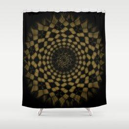 Golden Funnel Shower Curtain