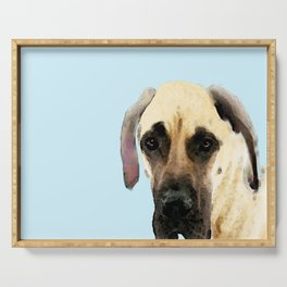 Great Dane Art - Dog Painting by Sharon Cummings Serving Tray