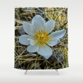 A Ghostly Flower Shower Curtain