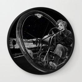 Getaway - Dieselpunk Monowheel Wall Clock