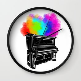 PIANO RAINBOW Wall Clock