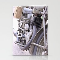motorbike Stationery Cards featuring Old motorbike by Carlo Toffolo