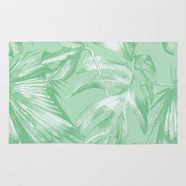 Tropics Mint Green Palm Leaves Rug