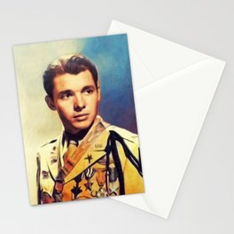 Audie Murphy, Actor an Hero Stationery Cards