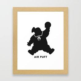 Air Puft: Stay Puft Marshmallow Man Framed Art Print