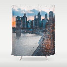 NYC Traffic Flurry Shower Curtain
