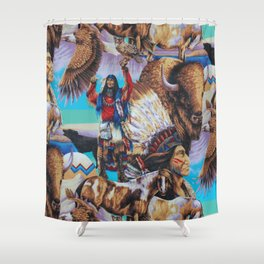 American Native Pattern No. 199 Shower Curtain