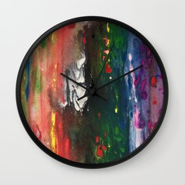 Fluid painting, abstract Wall Clock