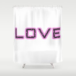 [Glittered Outline Effect Variant] Love's Simple Shower Curtain