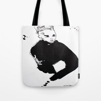 vogue Tote Bags featuring Vogue by Issa Abou-Issa