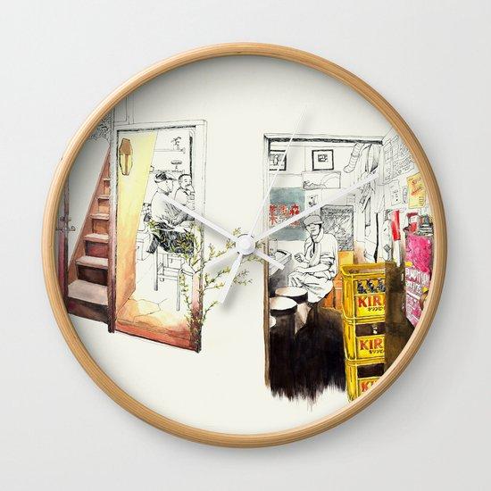 Tuesday Night Doors Wall Clock