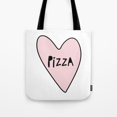 Pink Pizza Heart Tote Bag