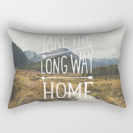 TAKE THE LONG WAY Rectangular Pillow