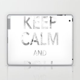 Keep Calm and Roll Initiative (White Text) Laptop & iPad Skin
