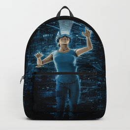 Virtual Reality User Woman Backpack