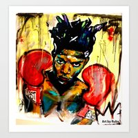 basquiat Art Prints featuring Basquiat by Ruby Chavez